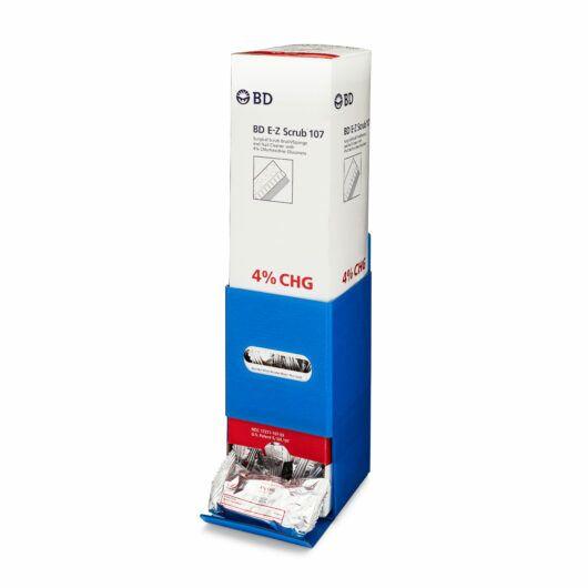 FlexiStore Surgical Scrub Brush Dispenser Enclosed Scrub Light Blue