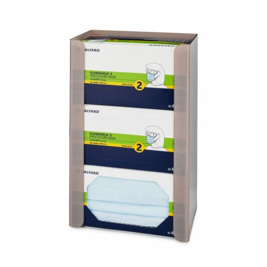 FlexiStore Open Earloop Face Mask Dispenser 3 Boxes Sand