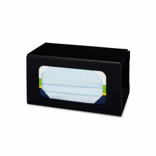 FlexiStore Enclosed Flex Fill Earloop Mask Dispenser 1 Box Black