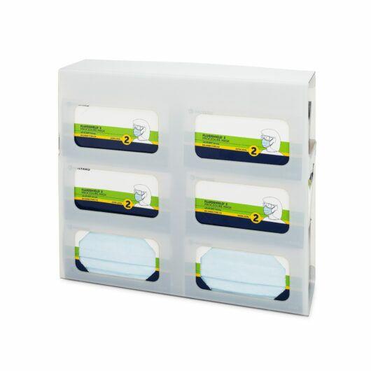 FlexiStore Side Fill Earloop Face Mask Dispenser 6 Box Salt