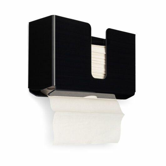 FlexiStore Multi-Fold / C-Fold / Tri-Fold Paper Towel Dispenser Black